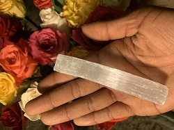 Selenite Raw Wand - One Single Wand