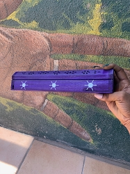 Purple Sol Box Incense Holder