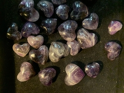 Small Amethyst Hearts - 1 Single