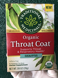 Throat Coat Eucalyptus Tea